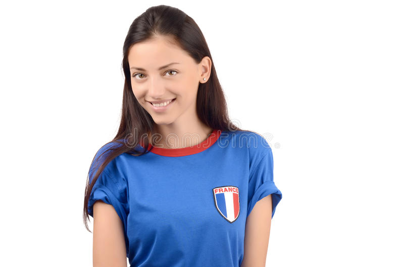 Πορτρέτο ενός όμορφου γαλλικού κοριτσιού στοκ φωτογραφία με δικαίωμα ελεύθερης χρήσης