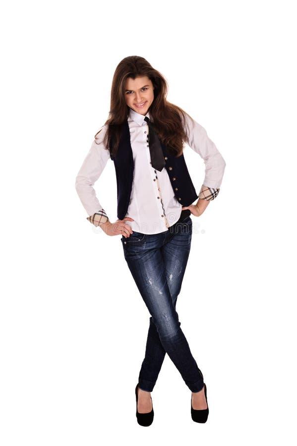 Πορτρέτο ενός όμορφου επιχειρησιακού κοριτσιού στοκ φωτογραφία με δικαίωμα ελεύθερης χρήσης