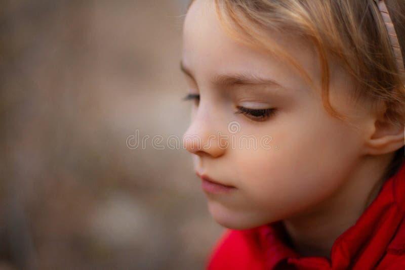 Πορτρέτο ενός όμορφου μικρού κοριτσιού με τα λουλούδια στοκ φωτογραφίες