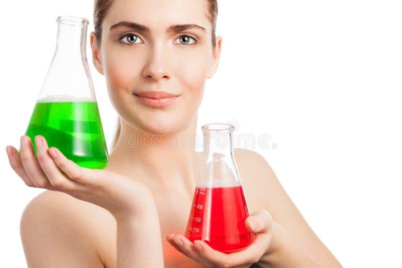 Επιλογή των σωστών συστατικών για το προϊόν makeup στοκ εικόνα