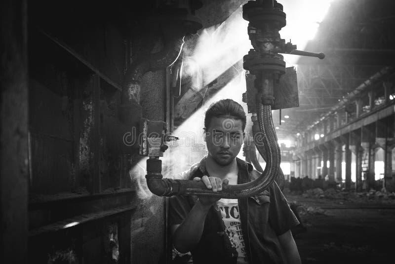 Πορτρέτο εργοστασίων στοκ εικόνες