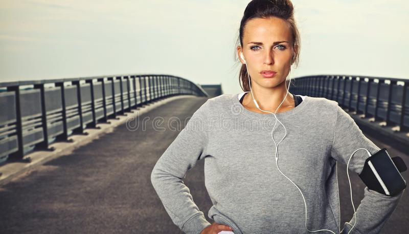 Πορτρέτο θηλυκού Jogger στοκ φωτογραφία με δικαίωμα ελεύθερης χρήσης