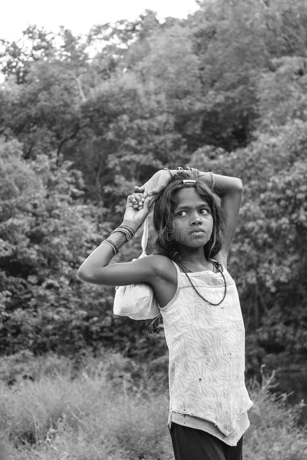 Πορτρέτο Ινδία τρωγλών στοκ φωτογραφία με δικαίωμα ελεύθερης χρήσης
