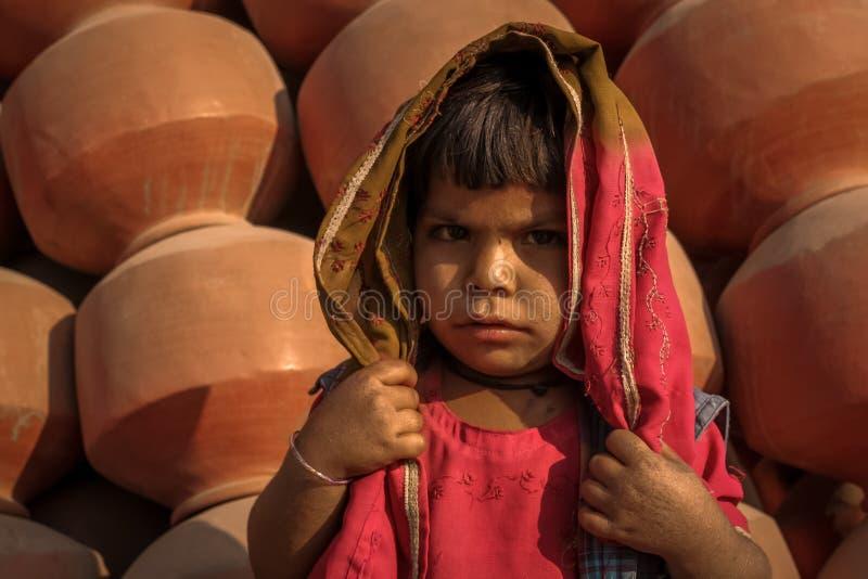 Πορτρέτο Ινδία τρωγλών στοκ εικόνα
