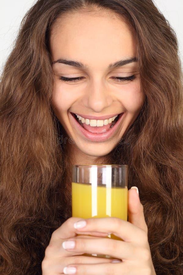 Γυναίκα με το χυμό στοκ φωτογραφίες με δικαίωμα ελεύθερης χρήσης