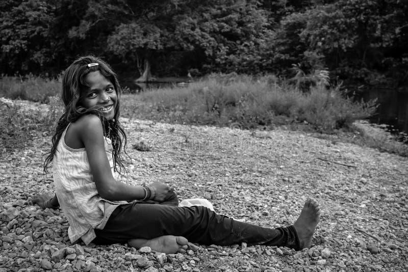 Πορτρέτο κοριτσιών τρωγλών στοκ εικόνες με δικαίωμα ελεύθερης χρήσης