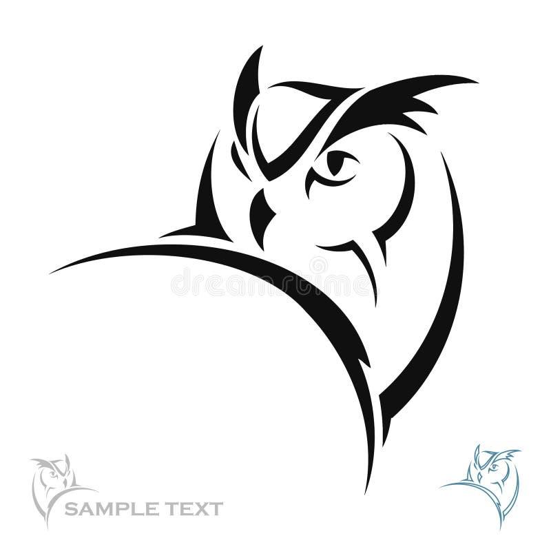 Πορτρέτο κουκουβαγιών διανυσματική απεικόνιση