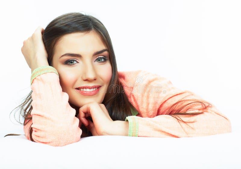 Πορτρέτο κρεβατιών γυναικών στοκ εικόνες