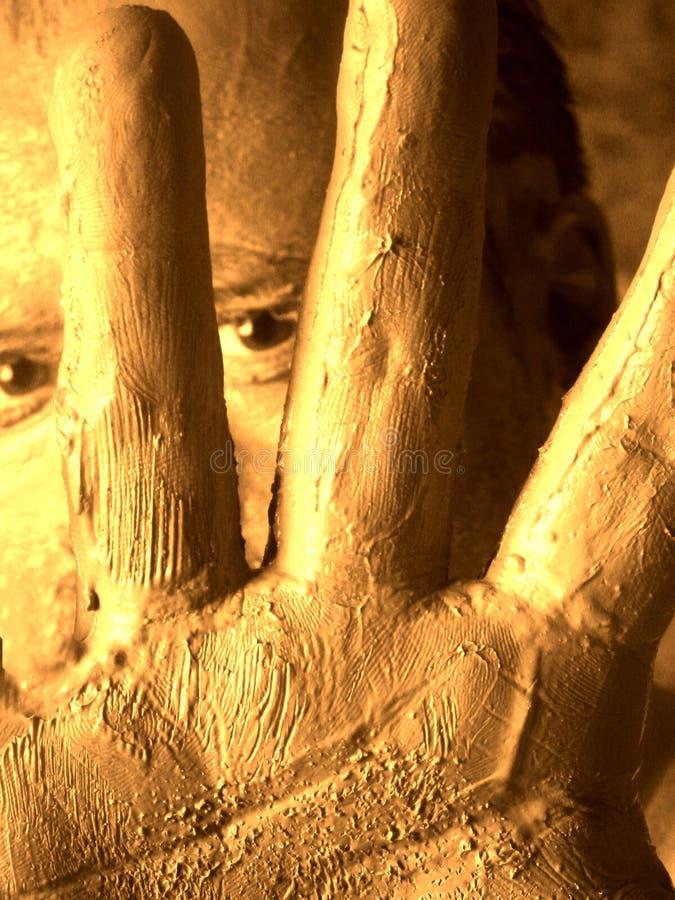 πορτρέτο λάσπης ατόμων μόνο στοκ εικόνες