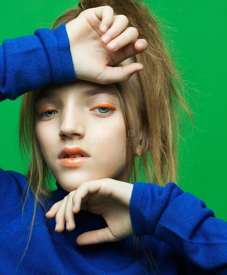Πορτρέτο λίγο παιδί μόδας Έννοια μόδας παιδιών ` s στοκ φωτογραφίες