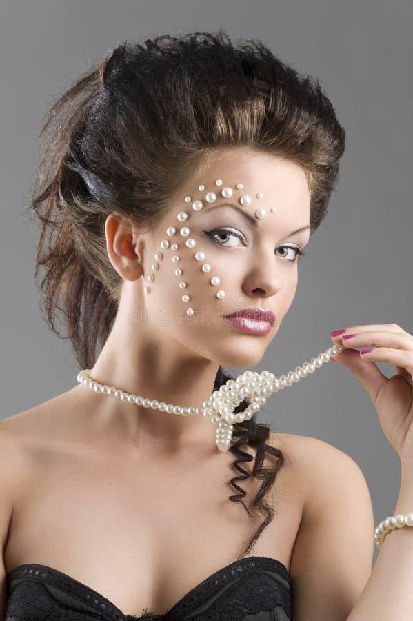 πορτρέτο μαργαριταριών στοκ φωτογραφία