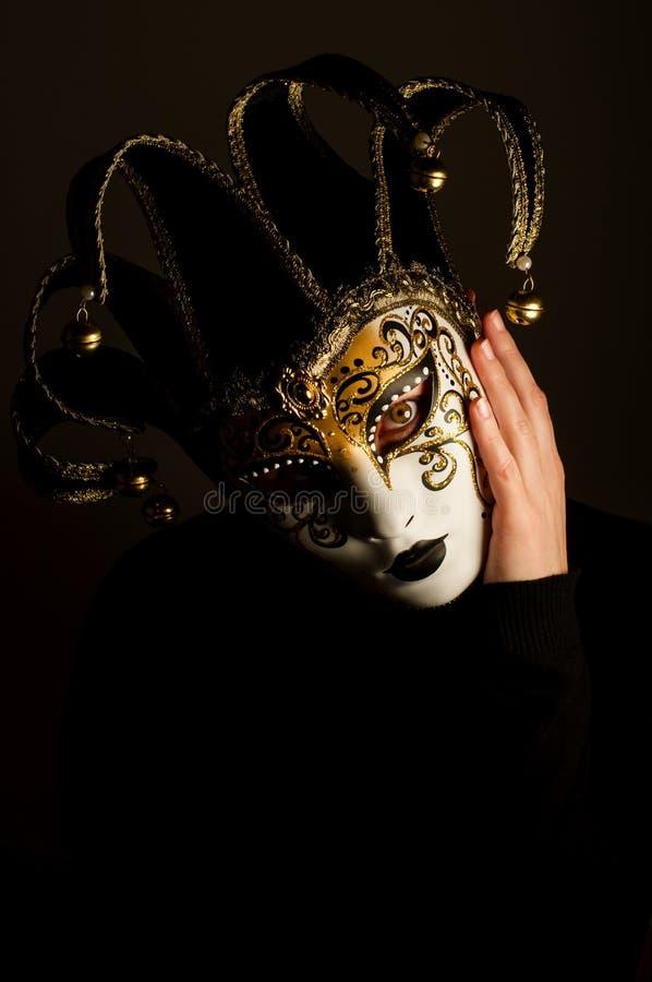 Πορτρέτο με τη μάσκα της Βενετίας στοκ φωτογραφία με δικαίωμα ελεύθερης χρήσης