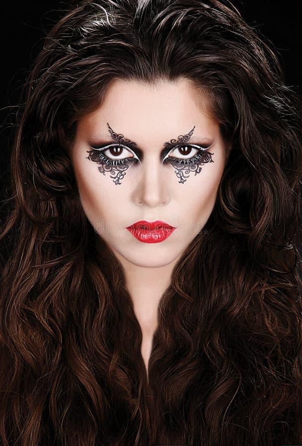 Πορτρέτο με τη φαντασία makeup στοκ εικόνες