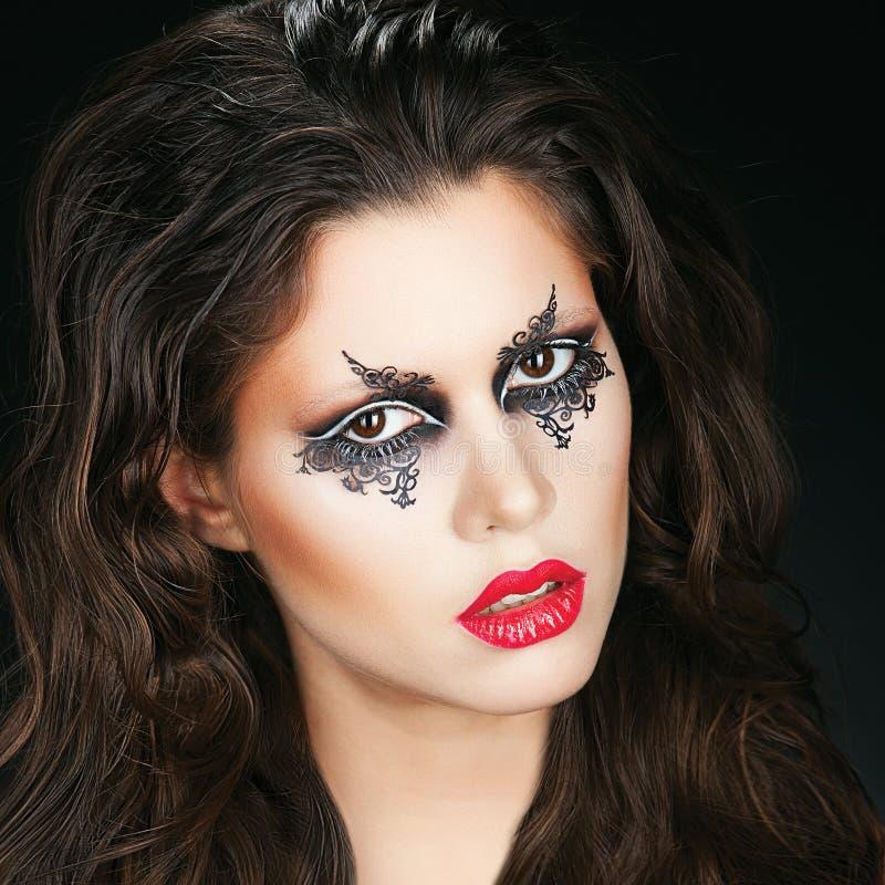 Πορτρέτο με τη φαντασία makeup στοκ φωτογραφία με δικαίωμα ελεύθερης χρήσης
