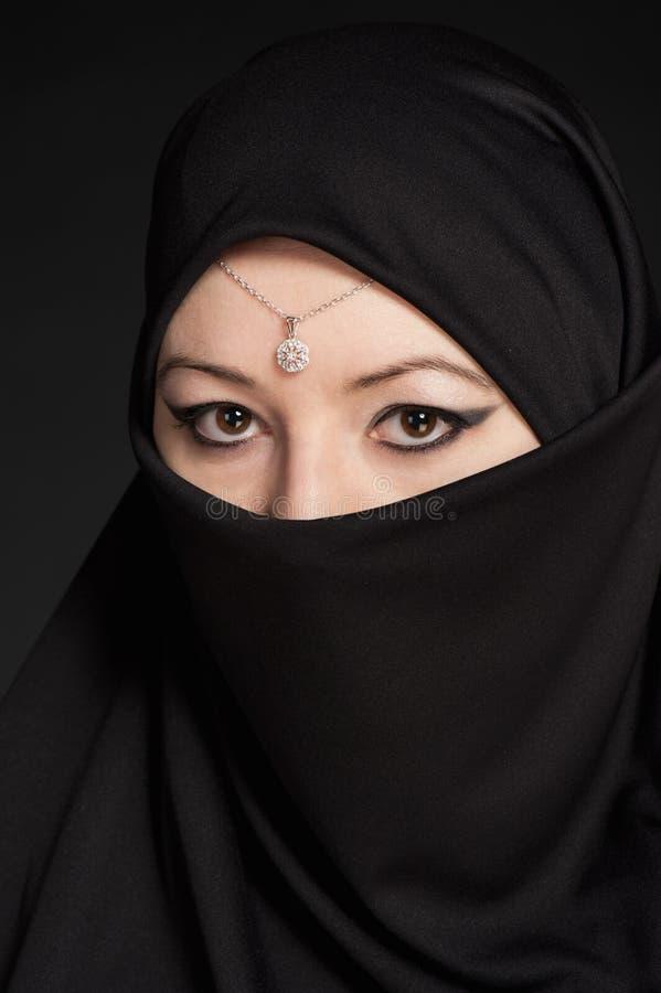 Πορτρέτο μιας ανατολής κοριτσιών στοκ εικόνα