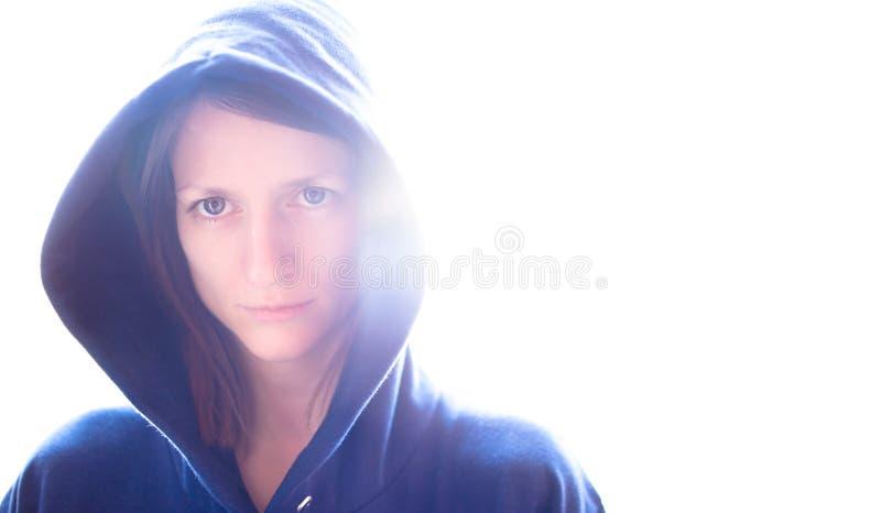 Πορτρέτο μιας αρκετά νέας γυναίκας στοκ φωτογραφίες με δικαίωμα ελεύθερης χρήσης