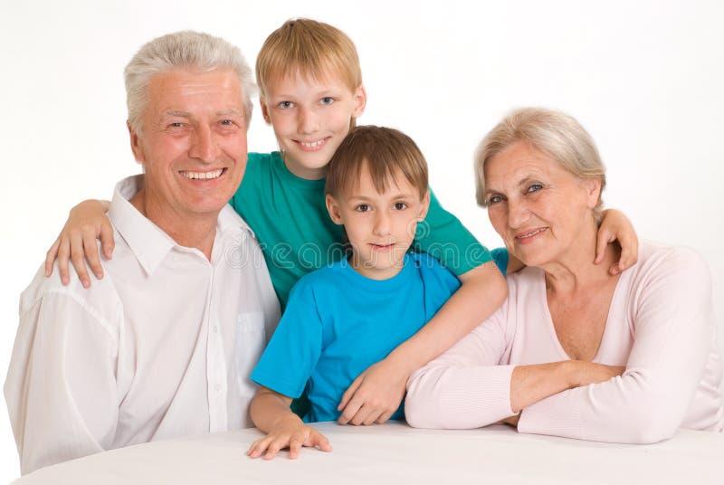 Πορτρέτο μιας ευτυχούς οικογένειας στοκ εικόνα