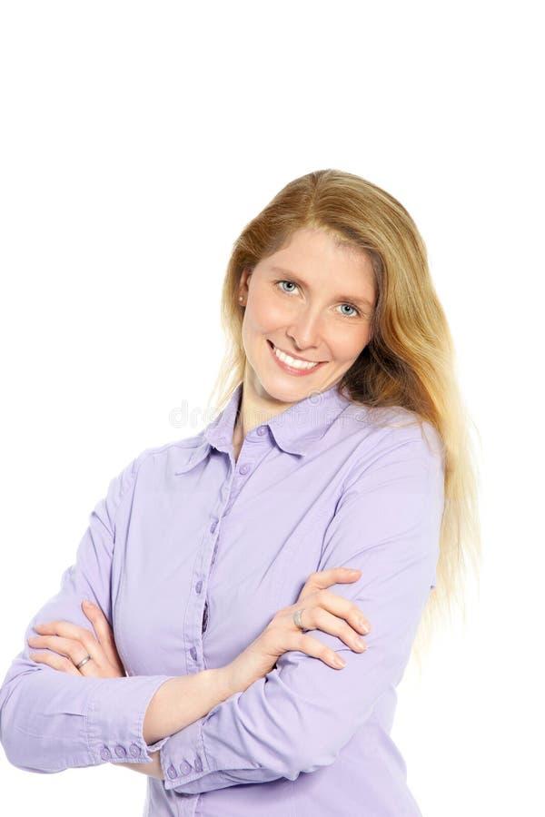 Πορτρέτο μιας ελκυστικής καυκάσιας γυναίκας στοκ φωτογραφίες με δικαίωμα ελεύθερης χρήσης