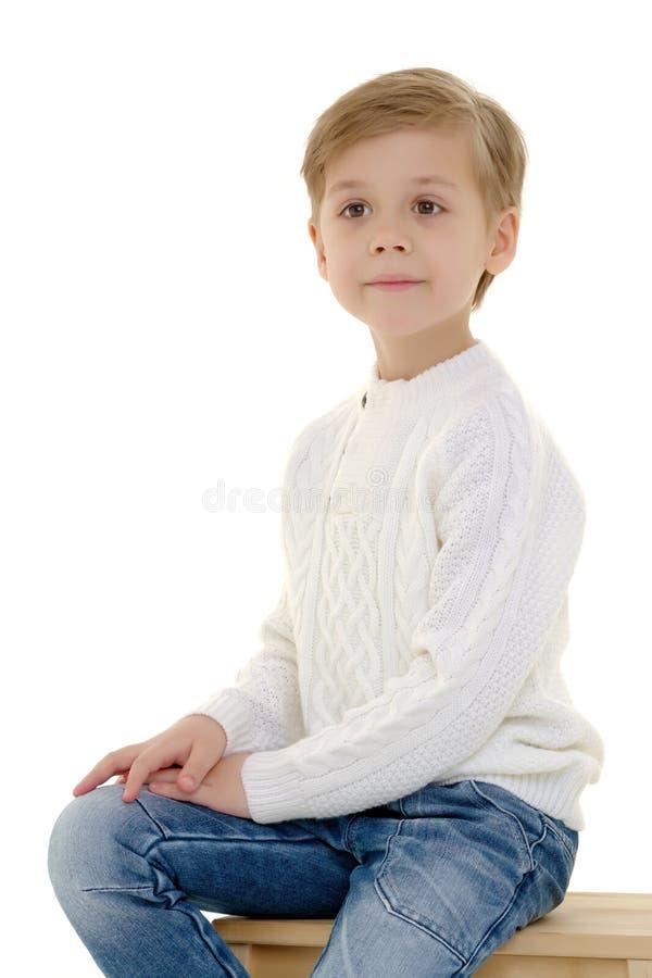 Πορτρέτο μιας μικρής κινηματογράφησης σε πρώτο πλάνο αγοριών στοκ φωτογραφία με δικαίωμα ελεύθερης χρήσης