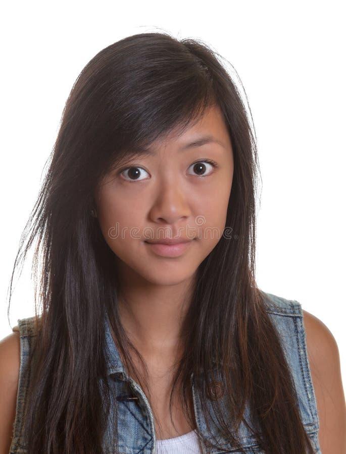Πορτρέτο μιας νέας ασιατικής γυναίκας στοκ φωτογραφία με δικαίωμα ελεύθερης χρήσης