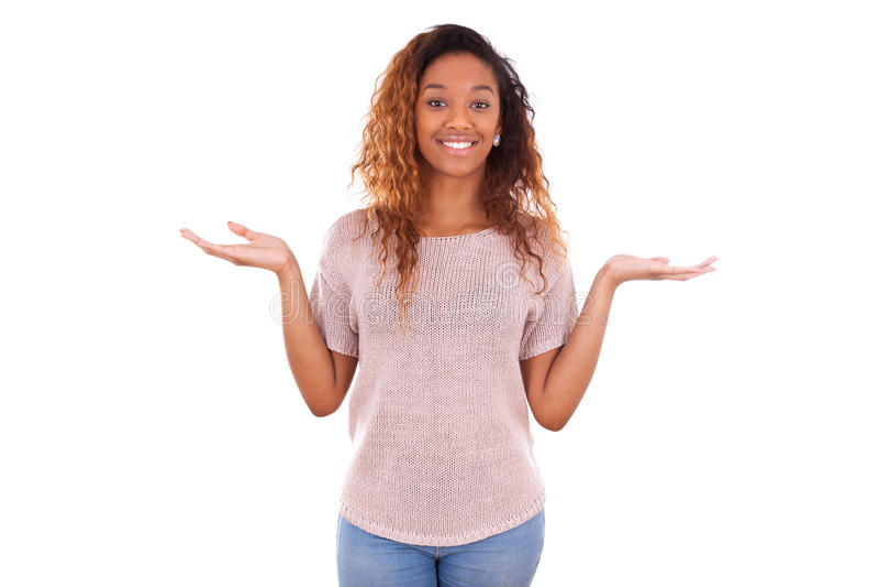 Πορτρέτο μιας νέας γυναίκας αφροαμερικάνων - μαύροι στοκ εικόνα