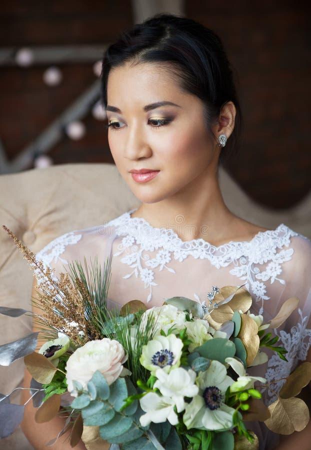 Πορτρέτο μιας νύφης στοκ εικόνες