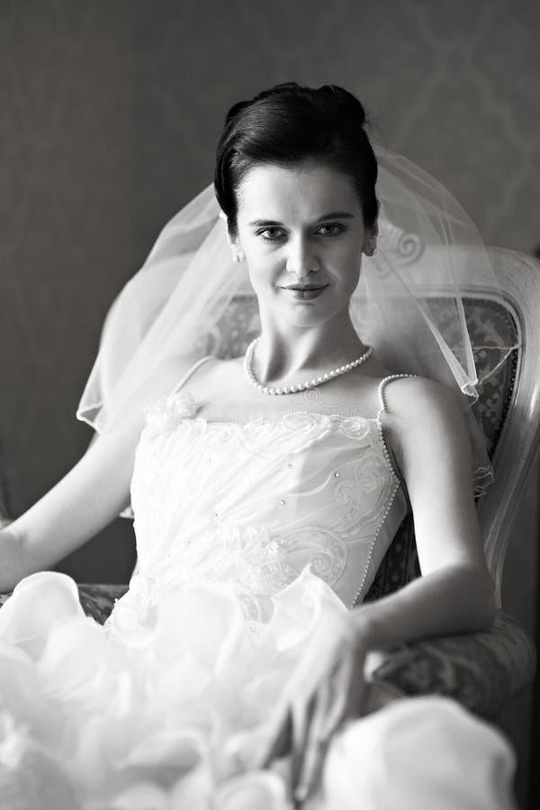Πορτρέτο μιας όμορφης νύφης στοκ εικόνες με δικαίωμα ελεύθερης χρήσης