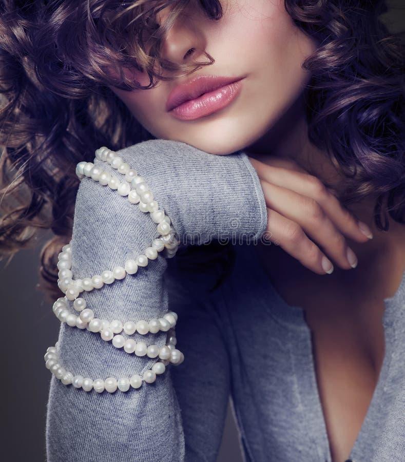 πορτρέτο μόδας ομορφιάς στοκ εικόνα