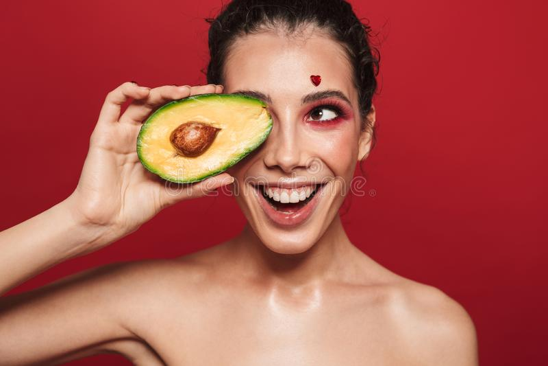 Πορτρέτο ομορφιάς μιας ελκυστικής νέας γυναίκας στοκ φωτογραφίες με δικαίωμα ελεύθερης χρήσης