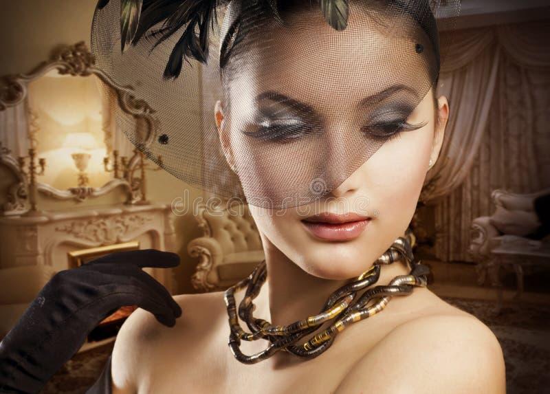 πορτρέτο ομορφιάς ρομαντ&iot στοκ φωτογραφία με δικαίωμα ελεύθερης χρήσης