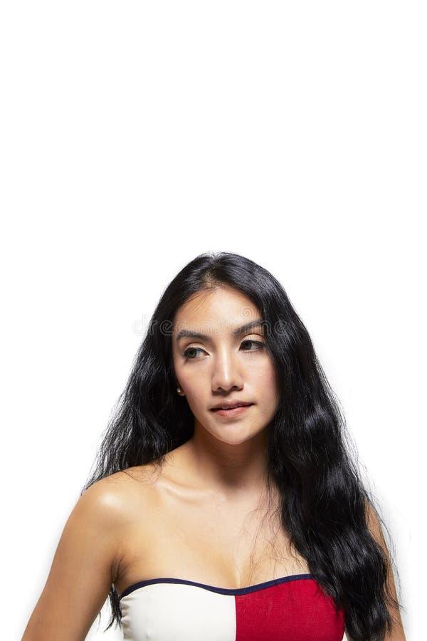 Πορτρέτο ομορφιάς του κοριτσιού με το τέλειο δέρμα στοκ φωτογραφίες