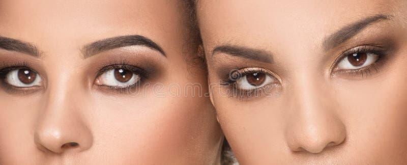 Πορτρέτο ομορφιάς δύο κοριτσιών αφροαμερικάνων στοκ εικόνα με δικαίωμα ελεύθερης χρήσης