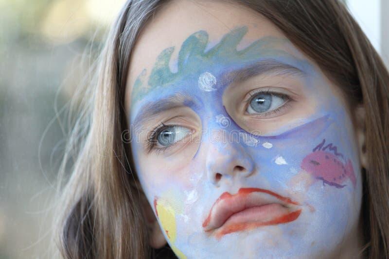 πορτρέτο παιδιών που ανατ&rho στοκ εικόνες