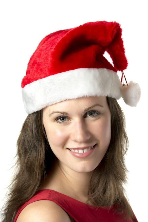 Πορτρέτο που χαμογελά τη γυναίκα Santa στοκ εικόνες με δικαίωμα ελεύθερης χρήσης