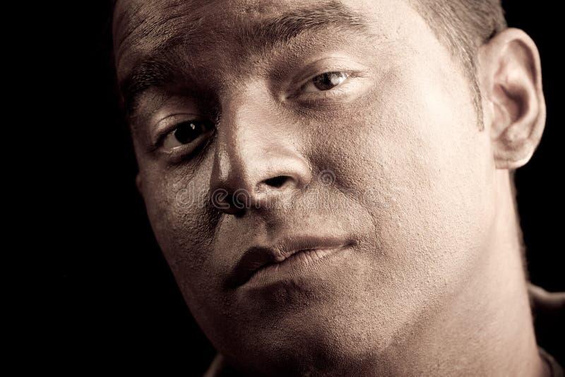 πορτρέτο προσώπου σοβαρό στοκ φωτογραφία με δικαίωμα ελεύθερης χρήσης