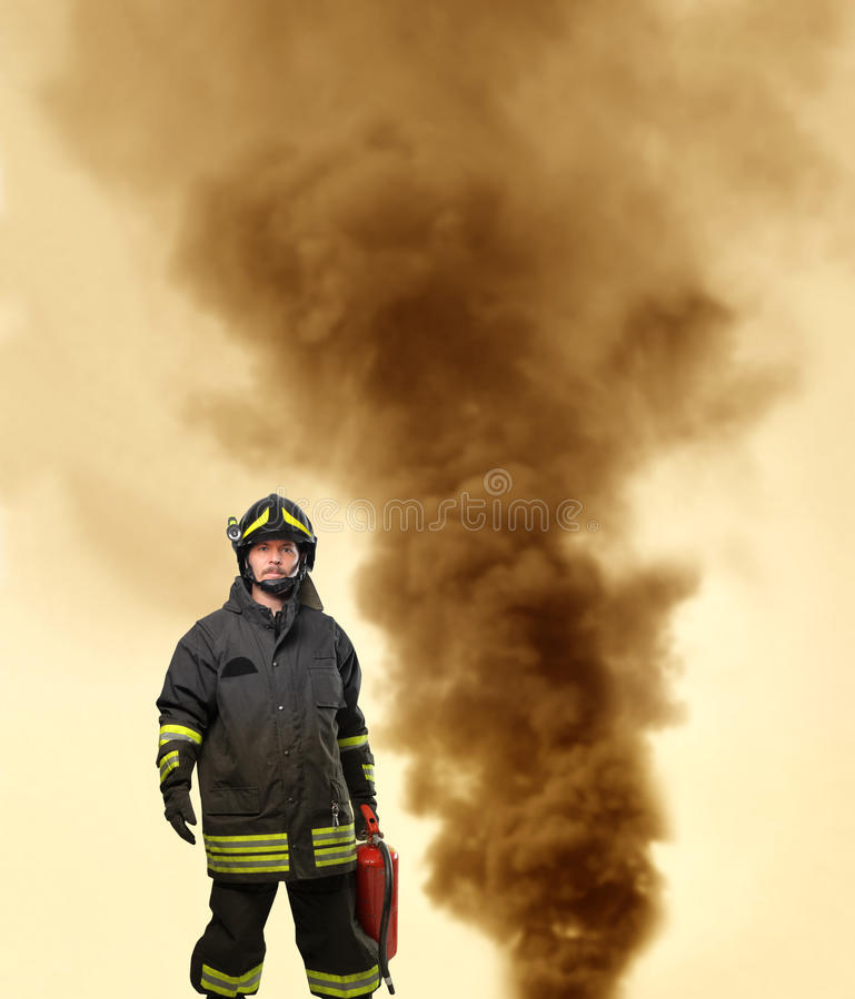 πορτρέτο πυροσβεστών στοκ εικόνες με δικαίωμα ελεύθερης χρήσης