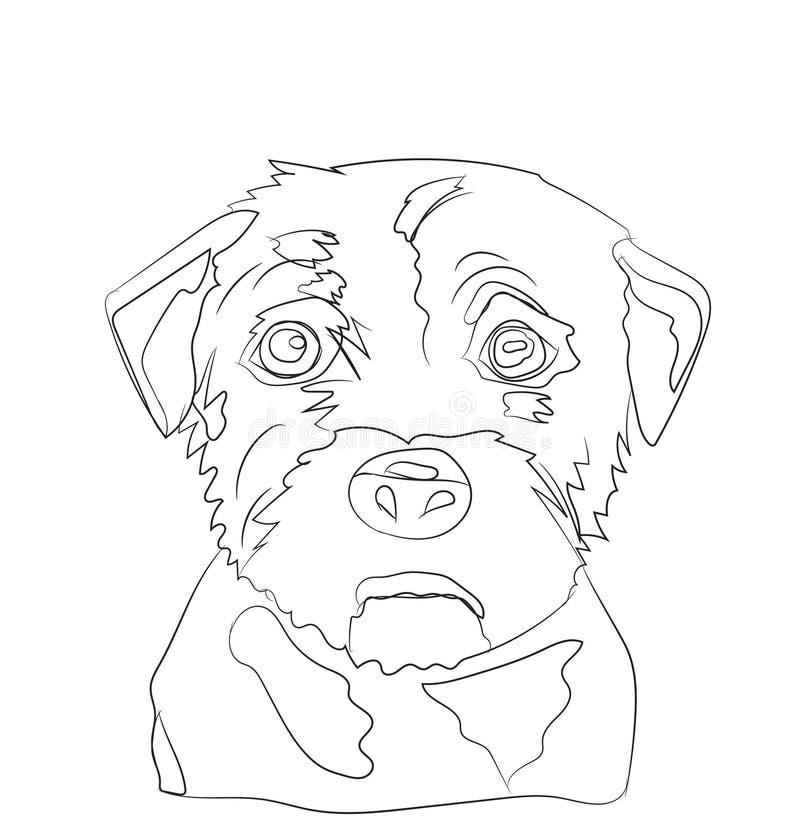 Πορτρέτο σκυλιών, γραμμές, διάνυσμα διανυσματική απεικόνιση
