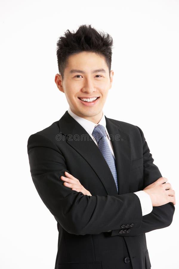 Πορτρέτο στούντιο του κινεζικού επιχειρηματία στοκ εικόνα