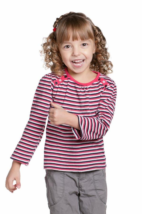 Πορτρέτο συναισθηματικά του κοριτσιού στοκ φωτογραφίες με δικαίωμα ελεύθερης χρήσης