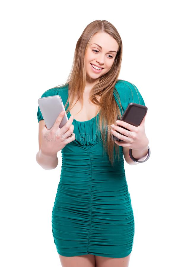 Πορτρέτο της αστείας ξανθής γυναίκας στοκ φωτογραφία με δικαίωμα ελεύθερης χρήσης