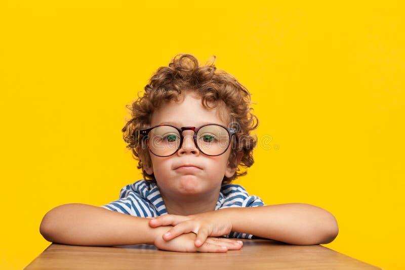 Πορτρέτο της γοητείας του αγοριού eyeglasses στοκ εικόνες