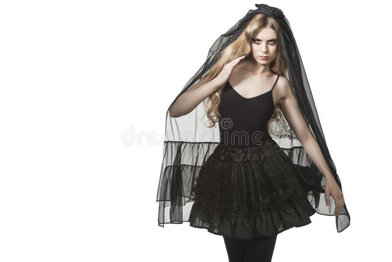 Πορτρέτο της γοτθικής νύφης στοκ φωτογραφίες με δικαίωμα ελεύθερης χρήσης