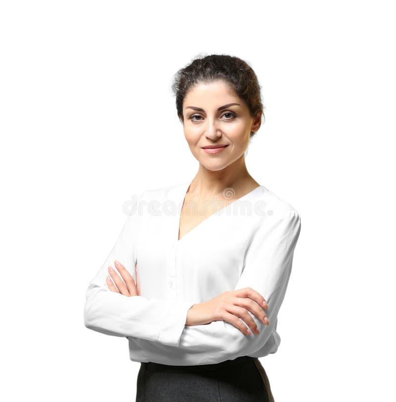 Πορτρέτο της επιτυχούς ώριμης επιχειρηματία στοκ φωτογραφία με δικαίωμα ελεύθερης χρήσης