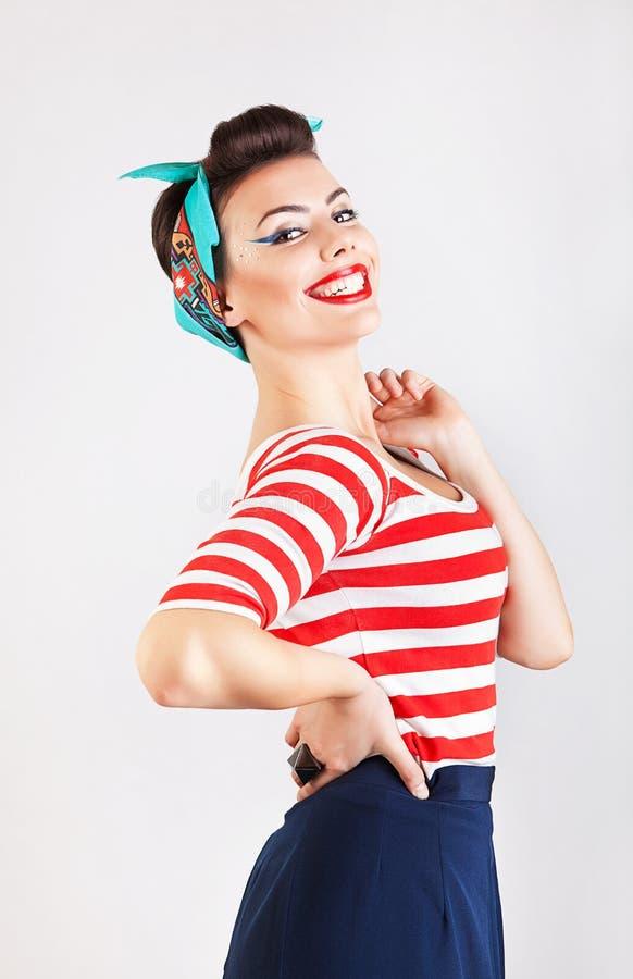 Πορτρέτο της ευτυχούς γυναίκας στοκ εικόνες