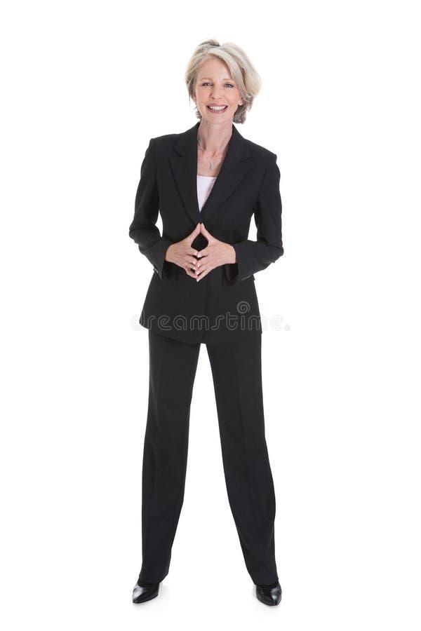 Πορτρέτο της ευτυχούς επιχειρηματία στοκ φωτογραφία με δικαίωμα ελεύθερης χρήσης