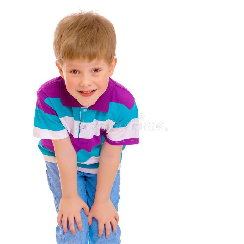 Πορτρέτο της κινηματογράφησης σε πρώτο πλάνο μικρών παιδιών, που απομονώνεται στοκ εικόνα