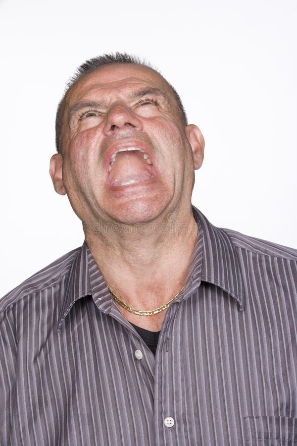 Download Πορτρέτο της μέσης ενήλικης αρσενικής κραυγής. Απομονωμένος. Στοκ Εικόνες - εικόνα από ανασκόπησης, midlife: 13177922
