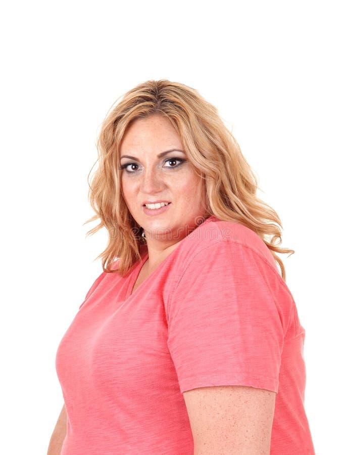 Πορτρέτο της μεγάλης νέας γυναίκας στοκ εικόνα με δικαίωμα ελεύθερης χρήσης