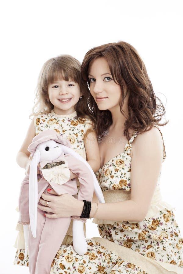 Πορτρέτο της μητέρας και λίγης κόρης στοκ φωτογραφίες