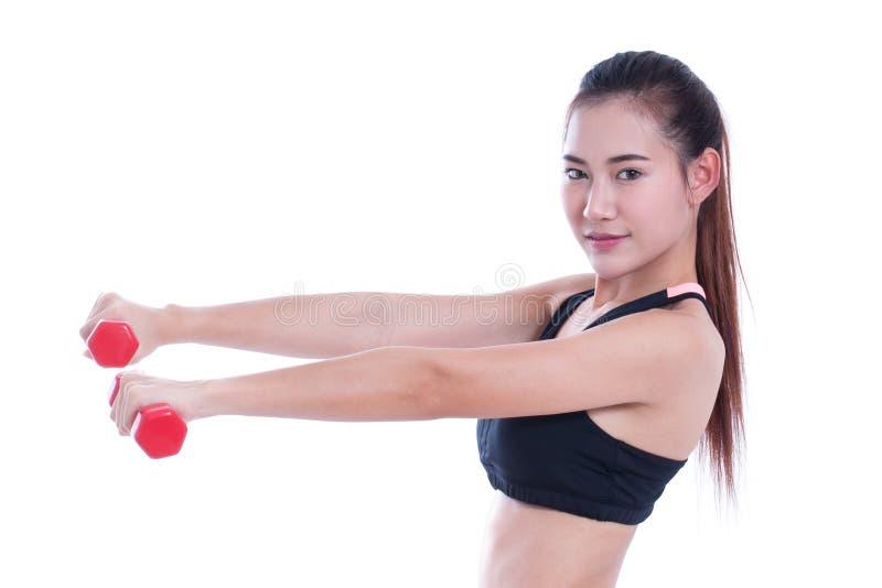 Πορτρέτο της νέας γυναίκας που κάνει την άσκηση στοκ εικόνα με δικαίωμα ελεύθερης χρήσης